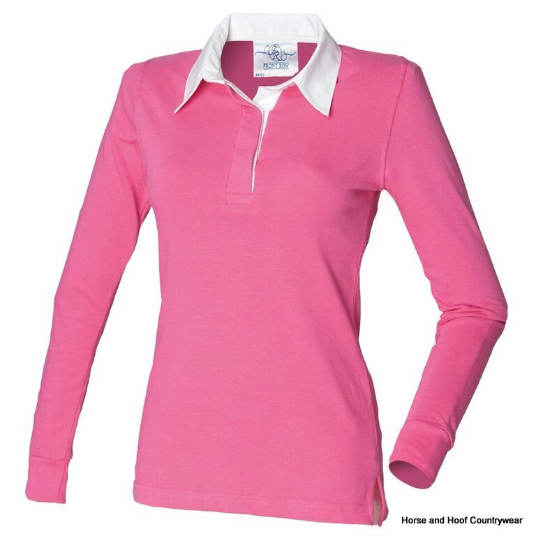 Front Row Co Women S Long Sleeve Plain Rugby Shirt