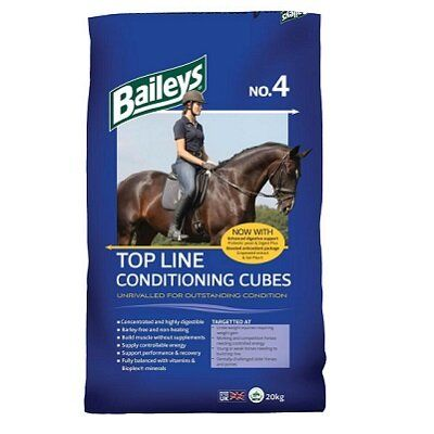 Baileys No.4 Top Line Conditioning Cubes Horse Feed 20kg