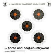 Bisley Small Five Targets Grade 2 or Grade 3 - 14cm x 14cm