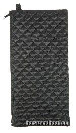 Black Quilted Folding Cane Wallet