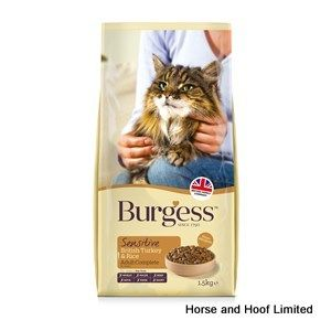 Burgess Sensitive Adult Turkey & Rice Cat Food 2kg