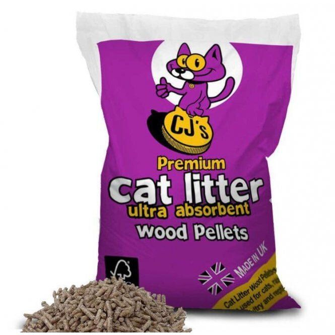 CJ's Premium Wood Pellets Cat Litter 15L