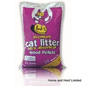 CJ's Premium Wood Pellets Cat Litter 6 x 5L