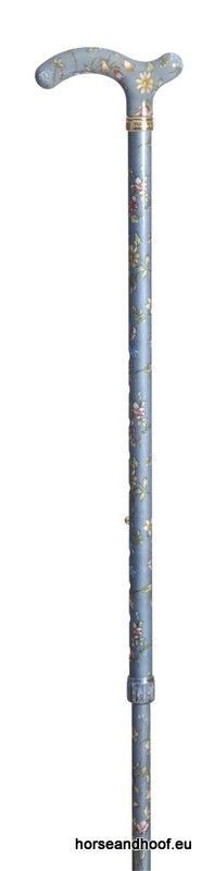 Classic Canes Chelsea Height-Adjustable Aluminium Cane - Grey Floral