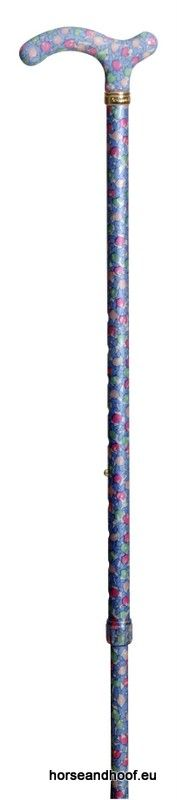 Classic Canes Chelsea Height-Adjustable Aluminium Cane - Light Blue Floral