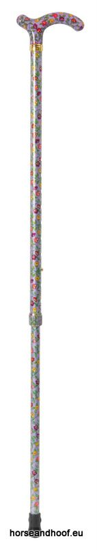 Classic Canes Chelsea Height-Adjustable Aluminium Cane - Lilac Floral