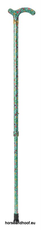Classic Canes Chelsea Height-Adjustable Aluminium Cane - Peppermint Floral