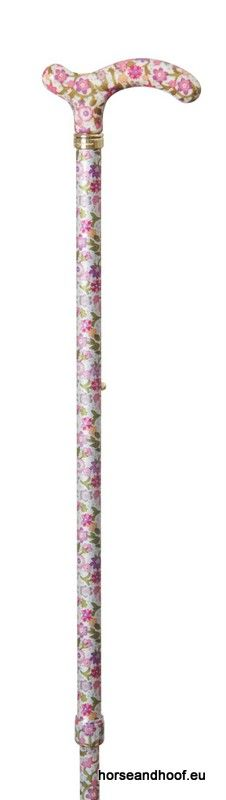 Classic Canes Chelsea Height-Adjustable Aluminium Cane - Pink Floral