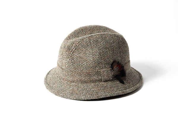 48765d33 Failsworth Harris Tweed Wool Drop Brim Elgin Hat - Brown