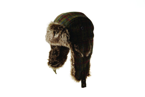 cdd2f3ecb4b Failsworth Harris Tweed Wool Fur Trapper Hat - Green