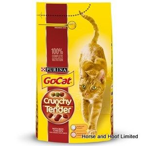 Go-Cat Crunchy Tender Beef & Chicken Flavour Cat Food 1.5kg