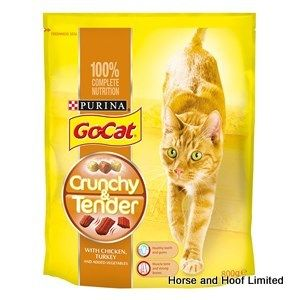 Go-Cat Crunchy & Tender Chicken Turkey & Vegetables Flavoured Cat Food  4 x 800g