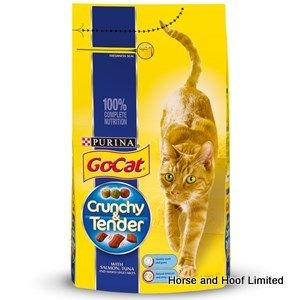 Go-Cat Crunchy Tender Salmon & Tuna Cat Food 1.5kg