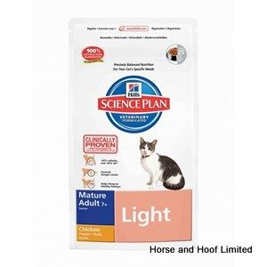 Hills Feline Mature Light Chicken Cat Food  7+ 5kg