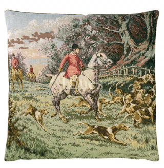Horse and Hounds - Fine Tapestry Cushion