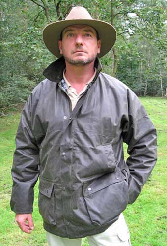 Hunter Outdoor New England Jager Lightweight Hunting Wax Jacket - Antique Olive