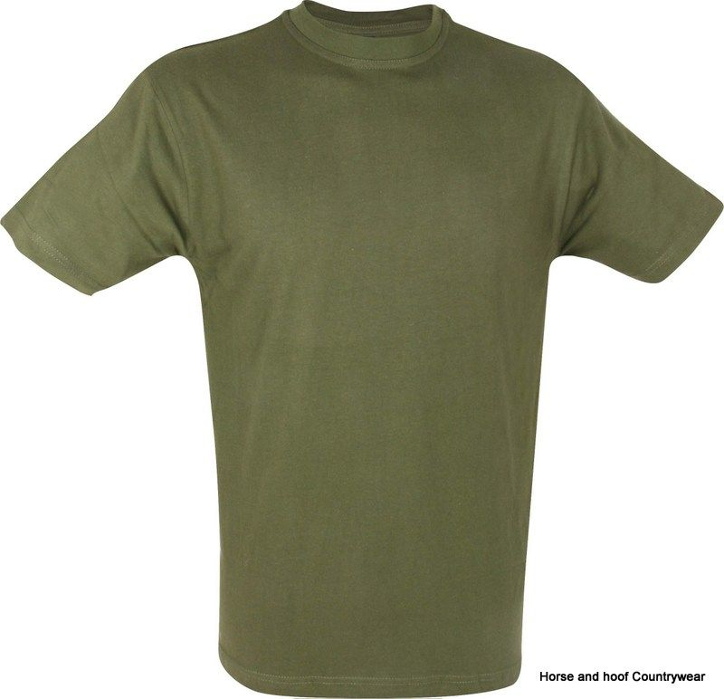 Mil com kids t shirt olive green for Olive green oxford shirt