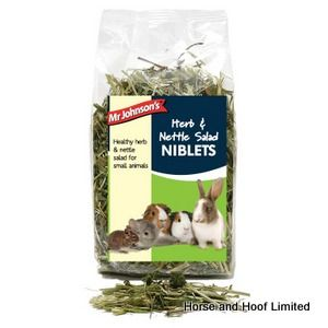 Mr Johnsons Salad Herb & Nettle Small Animal Feed 6 x 100g