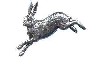 Pewter Running Hare Badge