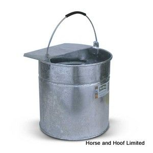Supa Galvanised Side Bucket Poultry Feeder 9.1L